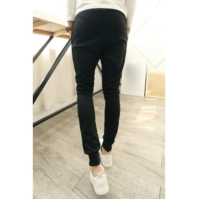 Фотография Casual Solid Color Lace-Up Simple Letters Print Slimming Narrow Feet Men