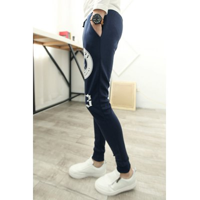 Гаджет   Leisure Lace-Up Slimming Letters and Cartoon Print Solid Color Narrow Feet Men
