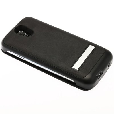 Fashionable Style Protective 3800mAh Battery Charger Case with Card Holder Function for Samsung Galaxy S4