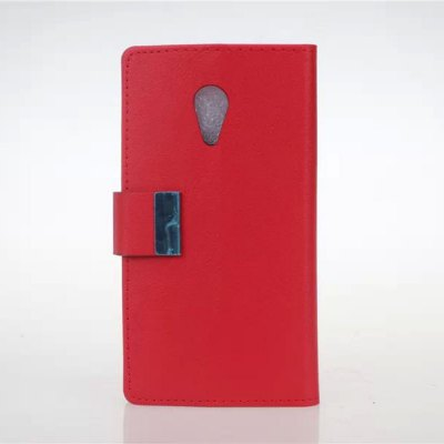 PU and PC Material Card Holder Cover Case with Stand for Motorola Moto G2
