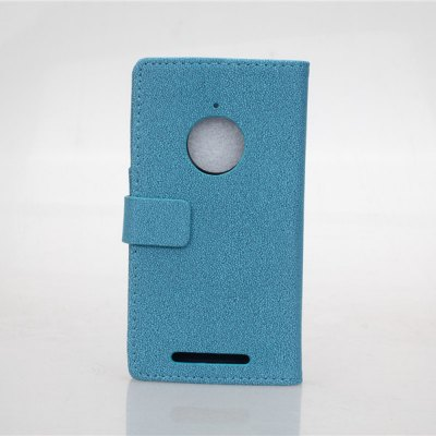Gravel Pattern PU and PC Material Card Holder Cover Case with Stand for Nokia Lumia 830
