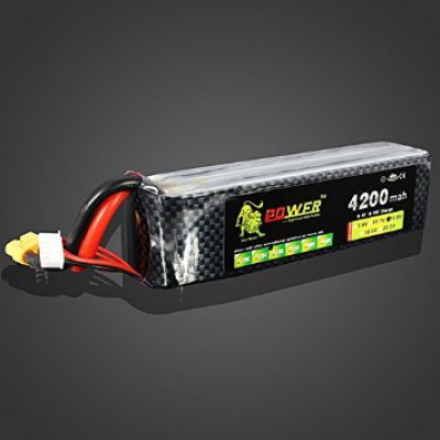 Lion Power XT60 Plug 14.8V 4200MAH 30C MAX 45C Lipo High Capacity Battery