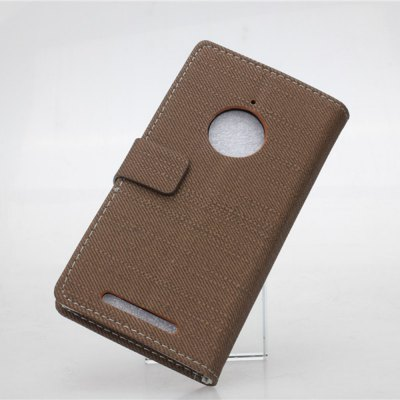 Фотография Cloth Texture Pattern PU and PC Material Card Holder Cover Case with Stand for Nokia Lumia 830