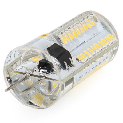 Фотография G4 5W 80 x SMD 3014 Dimming Silicone LED Corn Lamp Crystal Spotlight Bulb ( AC 200  -  240V )