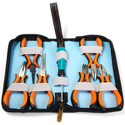 Фотография WLXY 7 in 1 Portable Pliers and Screwdriver Set Hand Tool Kit for Making Jewellery