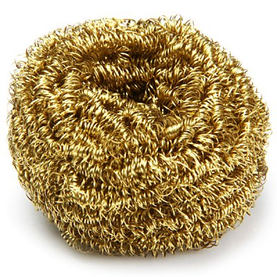 Copper Spiral Scourer Cleaning Ball for Machine Tool + Storaging Box