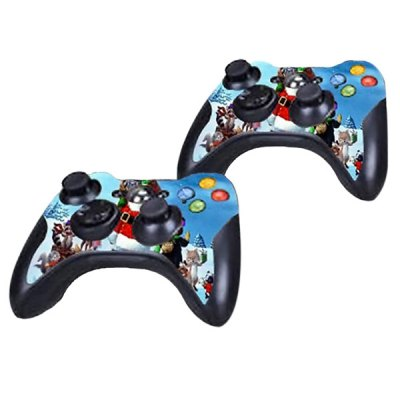 Фотография Cover Skin Stickers for 360E Game Console and Controllers with Santa Claus Pattern