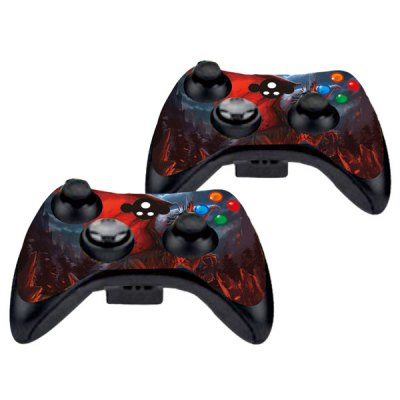 Фотография Cover Skin Stickers for 360S Game Console and Controllers with Red Dragon with Wings Pattern