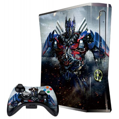 Cover Skin Stickers for 360S Game Console and Controllers with Transformers Figure - Optimus Prime Pattern