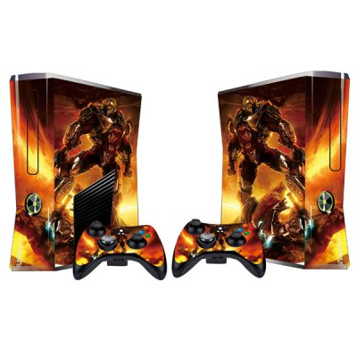 Cover Skin Stickers for 360S Game Console and Controllers with Transformers Figure Pattern