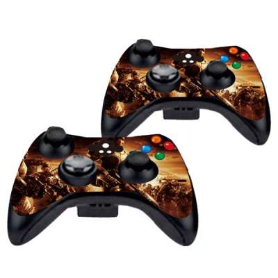 Фотография Cover Skin Stickers for 360S Game Console and Controllers with Gears of War 2 Figures Pattern