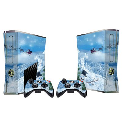 Cover Skin Stickers for 360S Game Console and Controllers with Snow Scene Pattern