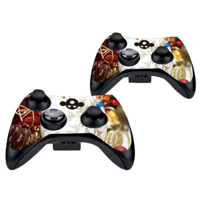 Фотография Cover Skin Stickers for 360S Game Console and Controllers with Christmas Scene Pattern