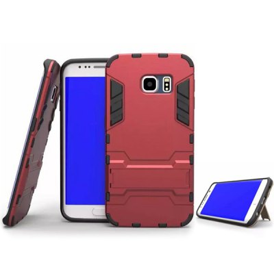 ФОТО Plastic and TPU Material Stand Design Back Cover Case for Samsung Galaxy S6 G9200