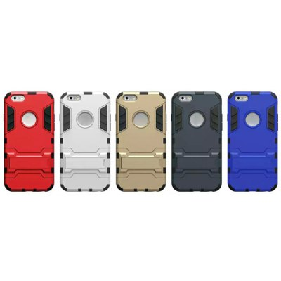 Фотография Plastic and TPU Material Stand Design Back Cover Case for iPhone 6  -  4.7 inch