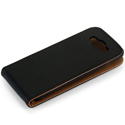 Фотография Solid Color Style Vertical Flip Cover Case of PU and PC Material for Samsung Galaxy E5 E500