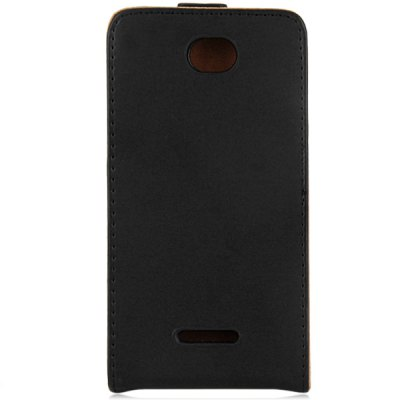 Фотография Solid Color Style Vertical Flip Cover Case of PU and PC Material for Sony Xperia E4