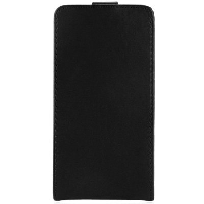 Solid Color Style Vertical Flip Cover Case of PU and PC Material for Sony Xperia E4