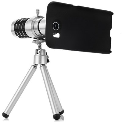 ФОТО Practical 12x Optical Telescope Mobile Telephoto Lens with Tripod and Back Case for Samsung Galaxy S6 G9200