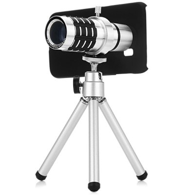 12x Optical Magnification Telescope Mobile Telephoto Lens with Case and Tripod Sets for Samsung Galaxy S6 G9200