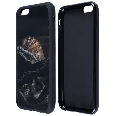 Pokers Pattern TPU Protective Back Cover Case for iPhone 6