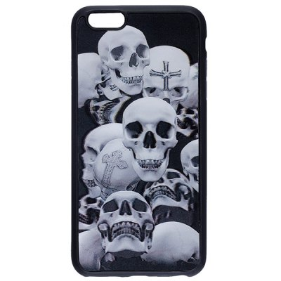 Гаджет   Skulls Pattern Silicone Protective Back Cover Case for iPhone 6 Plus iPhone Cases/Covers