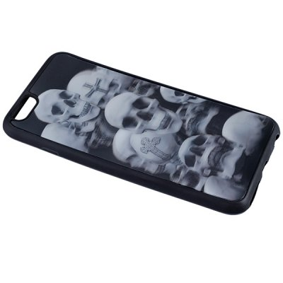 Фотография Skulls Pattern Silicone Protective Back Cover Case for iPhone 6 Plus