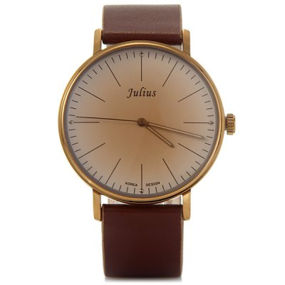 Фотография Julius 814 Male Contracted Quartz Watch Leather Band Wristwatch