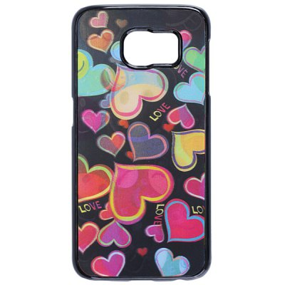 Гаджет   Love Heart Pattern 3D Coloured Sculpture Protective Case for Samsung Galaxy S6 Samsung Cases/Covers