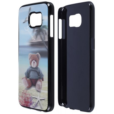 Bear Pattern 3D Coloured Sculpture Protective Case for Samsung Galaxy S6
