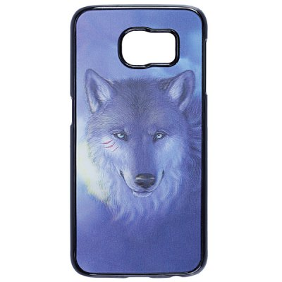 Гаджет   Wolf Pattern 3D Coloured Sculpture Protective Case for Samsung Galaxy S6 Samsung Cases/Covers