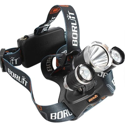 Boruit LT  -  068 5000Lm CREE XML T6 Bicycle Light LED Headlamp SetBoruit LT  -  068 5000Lm CREE XML T6 Bicycle Light LED Headlamp Set<br><br>Headlight brand: Boruit<br>Model: LT-068<br>Function: Camping,Hiking,Hunting,Night Riding,Walking<br>Feature: Can be used as headlamp or bicycle light,Power indicator light<br>Luminous Flux: 5000Lm<br>Main Lamp Beads: XM-L T6<br>Beads Number: 3<br>Mode: 4(Low - Mid - High - Strobe)<br>Battery Type: 18650<br>Power Source: AC 100-240V Wall Charger,Battery<br>Reflector: Aluminum Smooth Reflector<br>Lens: Glass Lens<br>Available Light Color: White<br>Color: Black<br>Body Material: Aluminium Alloy<br>Product weight: 0.210 kg<br>Package weight: 0.340 kg<br>Product size (L x W x H): 8.30 x 5.80 x 5.80 cm / 3.27 x 2.28 x 2.28 inches<br>Package size (L x W x H): 10.00 x 7.00 x 6.00 cm / 3.94 x 2.76 x 2.36 inches<br>Package Contents: 1 x Working Headlight, 1 x AC 100-240V Power Adapter, 2 x 18650 Battery