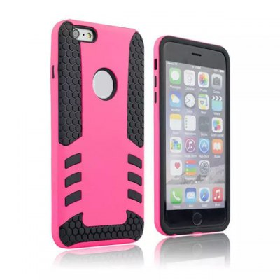PC and TPU Material Detachable Phone Back Cover Case for iPhone 6 Plus  -  5.5 inch