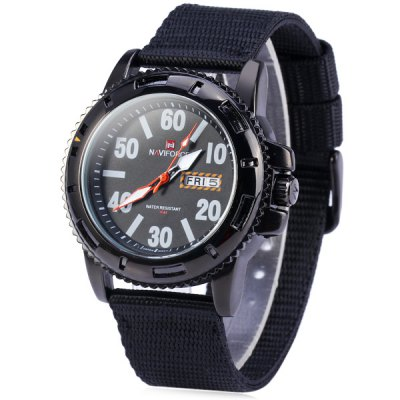 ФОТО Naviforce 9021 Water Resistance Male Quartz Watch Rotatable Bezel Wristwatch
