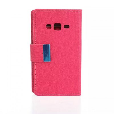 Maze Pattern PU and PC Material Card Holder Cover Case with Stand for Samsung Galaxy Z1