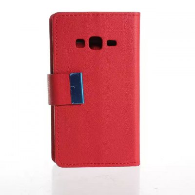 PU and PC Material Card Holder Cover Case with Stand for Samsung Galaxy Z1