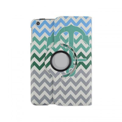360 Degrees Rotation Anchor Design Pad Cover PU Case Skin with Stand Function for iPad 5 / Air