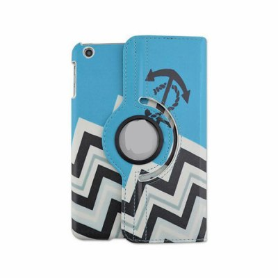 Фотография 360 Degrees Rotation Crown Stripes Design Pad Cover PU Case Skin with Stand Function for iPad 3