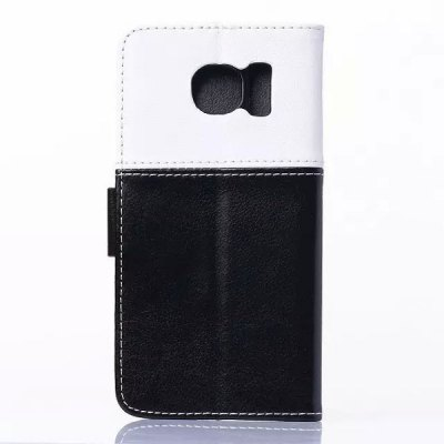 Гаджет   Stand Design Phone Cover Case of Smiling Face Pattern PU and PC Material for Samsung Galaxy S6 G9200 Samsung Cases/Covers