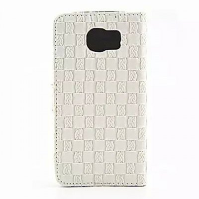 Stand Design Phone Cover Case of Three - dimensional Weave Pattern PU and PC Material for Samsung Galaxy S6 G9200Samsung Cases/Covers<br>Stand Design Phone Cover Case of Three - dimensional Weave Pattern PU and PC Material for Samsung Galaxy S6 G9200<br><br>Compatible for Sumsung: Galaxy S6 G9200<br>Features: With Credit Card Holder, Cases with Stand, Full Body Cases<br>Material: Plastic, PU Leather<br>Style: Novelty, Vintage/Nostalgic Euramerican Style, Grid Pattern<br>Color: Red, White, Black, Gold<br>Product weight: 0.060 kg<br>Package weight: 0.111 kg<br>Product size (L x W x H) : 14.5 x 7.5 x 1 cm / 5.70 x 2.95 x 0.39 inches<br>Package size (L x W x H): 14.7 x 7.7 x 1.2 cm / 5.78 x 3.03 x 0.47 inches<br>Package Contents: 1 x Case