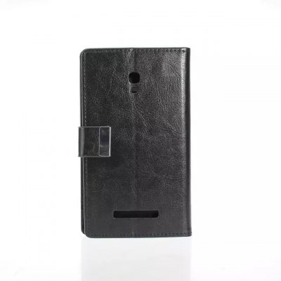 Гаджет   Crazy Horse Pattern PU and PC Material Card Holder Cover Case with Stand for Alcatel One Touch POP S9 Other Cases/Covers