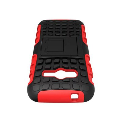 Фотография Stand Design TPU and PC Material Tire Pattern Protective Back Cover Case for Sumsung Galaxy Ace 4