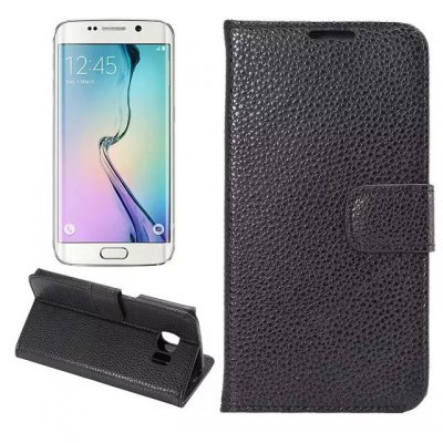 PU and PC Material Cover Case for Samsung Galaxy S6 Edge