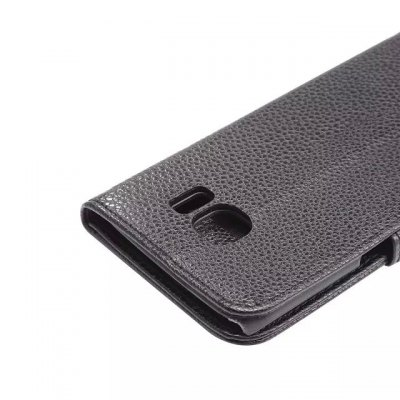 Фотография Litchi Pattern PU and PC Material Card Holder Cover Case with Stand for Samsung Galaxy S6 Edge