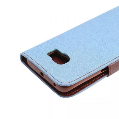 Фотография Denim Style PU and PC Material Card Holder Cover Case with Stand for Samsung Galaxy S6 Edge
