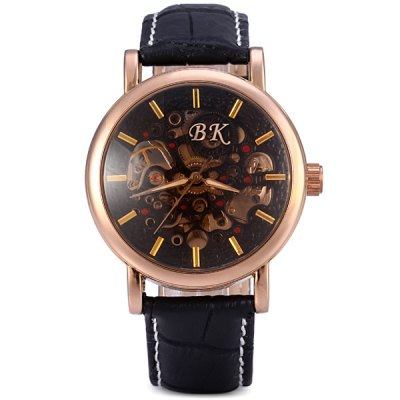 Фотография Biaoka Hollow Out Face Male Automatic Mechanical Watch