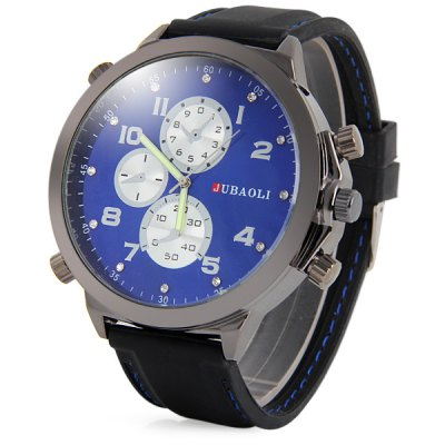 Фотография Jubaoli Rubber Band Big Dial Wristwatch Decorative Sub - dials Male Quartz Watch