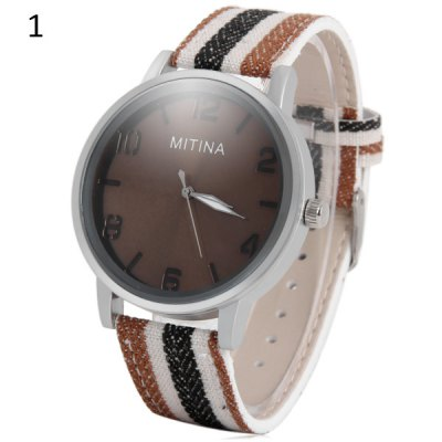 Mitina Leather + Cloth Strap Unisex Japan Movt Fashion Quartz WatchUnisex Watches<br>Mitina Leather + Cloth Strap Unisex Japan Movt Fashion Quartz Watch<br><br>Brand: Mitina<br>People: Unisex table<br>Watch style: Casual<br>Shape of the dial: Round<br>Movement type: Quartz watch<br>Display type: Analog<br>Case material: Stainless steel<br>Band material: Leather + Cloth<br>Clasp type: Pin buckle<br>The dial thickness: 0.9 cm / 0.35 inches<br>The dial diameter: 4.2 cm / 1.65 inches<br>The band width: 1.8 cm / 0.71 inches<br>Product weight: 0.045 kg<br>Package weight: 0.095 kg<br>Product size (L x W x H) : 24.8 x 4.2 x 0.9 cm / 9.75 x 1.65 x 0.35 inches<br>Package size (L x W x H): 25.8 x 5.2 x 1.9 cm / 10.14 x 2.04 x 0.75 inches<br>Package contents: 1 x Mitina Watch
