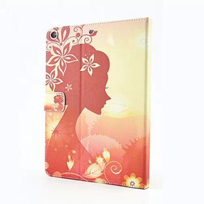 ФОТО Dawn Flower Girl Pattern Inlaid Diamond Design Pad Cover PU Case Skin with Stand Function for iPad Air / 5