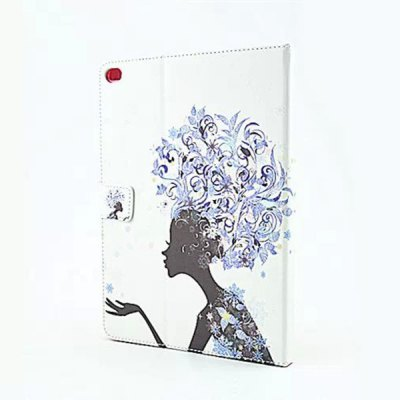 ФОТО Flower Girl Pattern Inlaid Diamond Design Pad Cover PU Case Skin with Stand Function for iPad Air 2